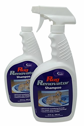 Rug Renovator Shampoo ~ You receive TWO 32oz bottles & 2 spray triggers CD232 by CLEANOVATION