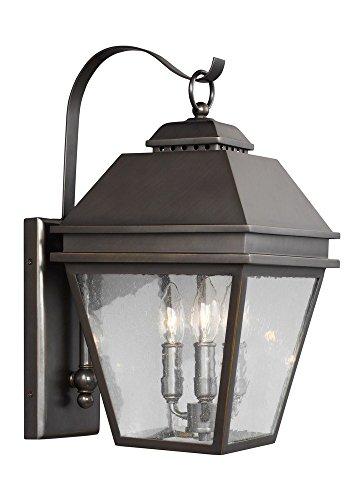 (Feiss OL13501ANBZ Three Light Outdoor Wall Lantern, Antique Bronze)