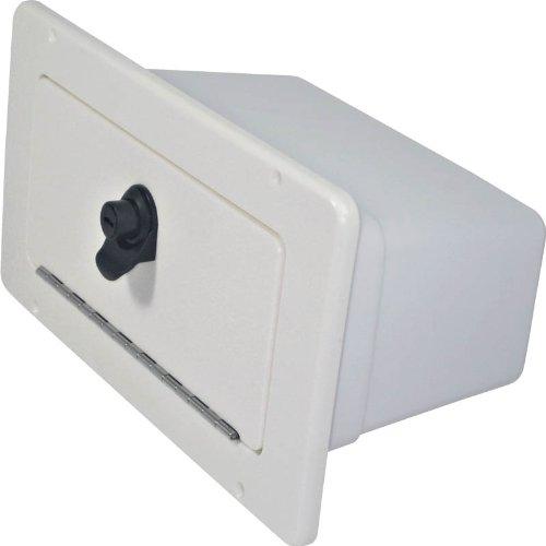 Teak Isle Boat Glove Box with Bin (Seafoam)