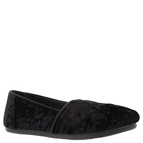 TOMS Black Velvet Women's Classics Slip-on Shoes (8 B(M) US)