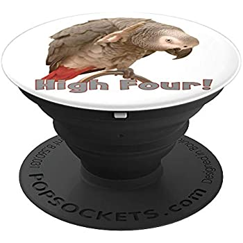 Funny African Grey Parrot Waving High Four PopSockets Grip and Stand for Phones and Tablets