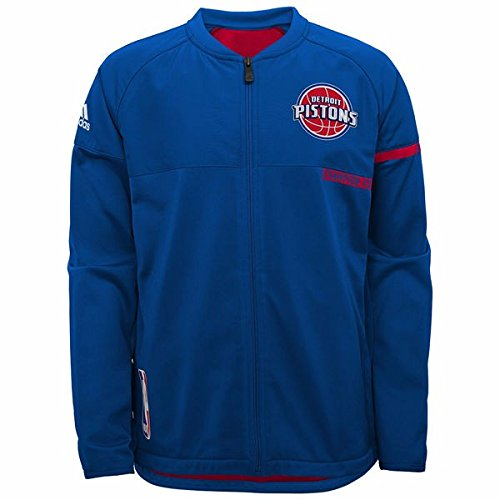 - adidas Detroit Pistons NBA Blue 2016-17 Authentic On-Court Team Issued Pro Cut Warm Up Jacket for Men (3XLT)