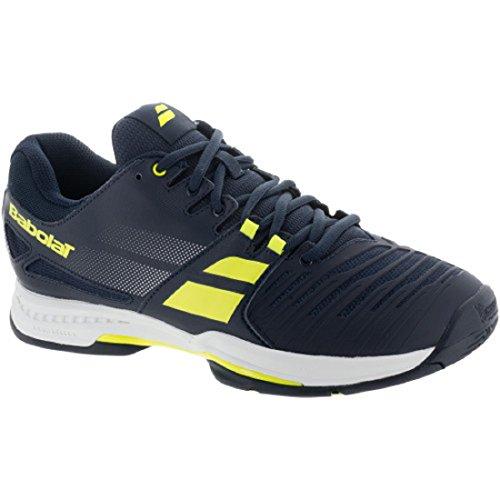 Babolat Men's SFX All Court Tennis Shoe-11.5 D(M) US-Black/Blue (Babolat Tennis Shoes)