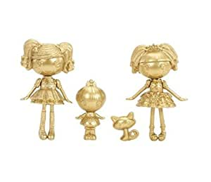 Lalaloopsy, Mini Lalaloopsy Exclusive Limited Gold Edition Set Spot Splatter Splash, Trinket, Sparkles, and Jewel Sparkles