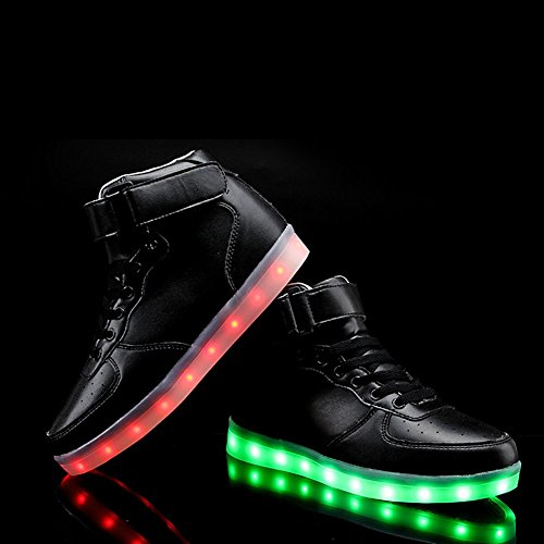 Amazon.com: KaLeido Unisex High Top USB Charging 7 Colors LED ...