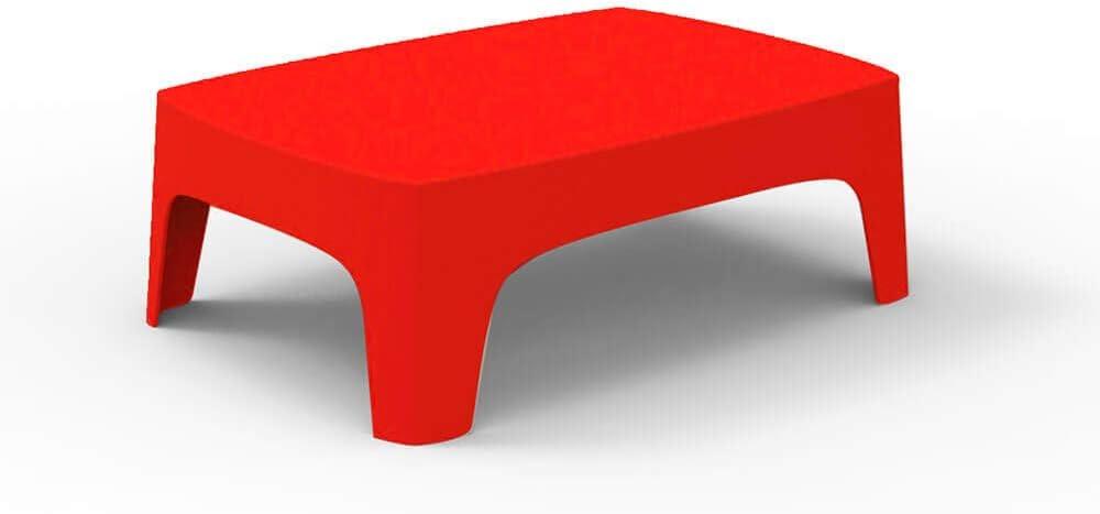 Vondom Solid mesa baja de exterior rojo: Amazon.es: Jardín