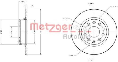 2x Metzger Bremsscheiben /ø271mm Set Hinten