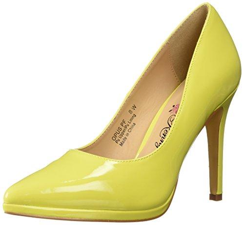 Women's PF Yellow Penny Patent Loves Opus Platform Kenny CqUTEIw