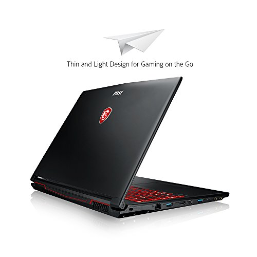 "MSI GL62M 7REX-1896US 15.6"" Full HD Gaming Laptop Computer Quad Core i7-7700HQ, GeForce GTX 1050Ti 4G Graphics, 8GB DRAM, 128GB SSD + 1TB Hard Drive, Steelseries Red Backlit Keyboard"