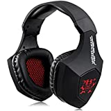 J&B Wireless Bluetooth 4.0 Gaming V8-5 Headset Earphone Headphone with Mic for PC Laptop Cell Phone (Black)