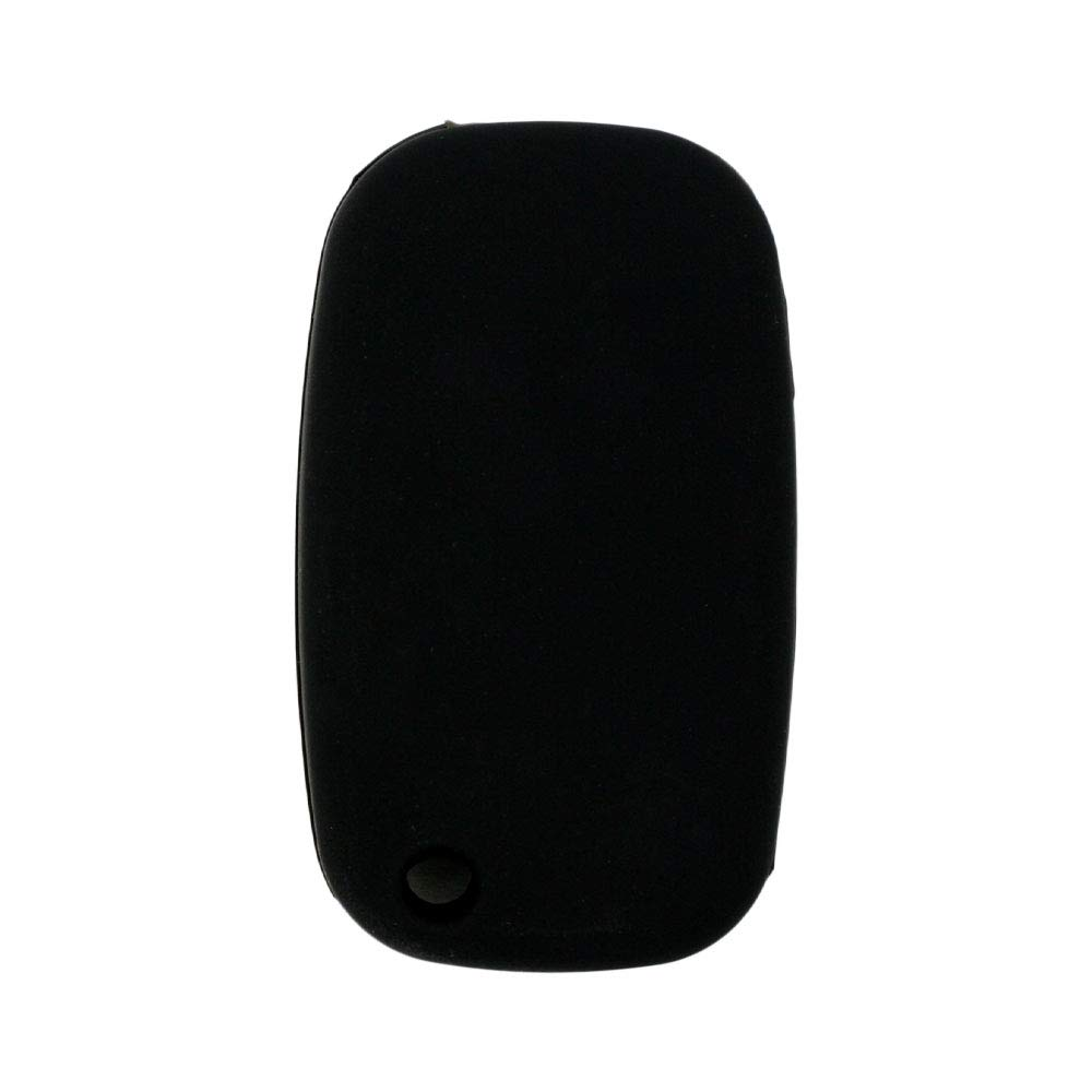 SEGADEN Silicone Cover Protector Case Skin Jacket fit for MERCEDES BENZ SMART 3 Button Flip Remote Key Fob CV4954 Black