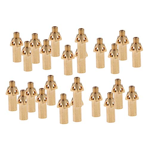 Flameer 24pcs Brass Replacement Tip/Nozzle/Jet/Burner for Propane LP Gas 37mm