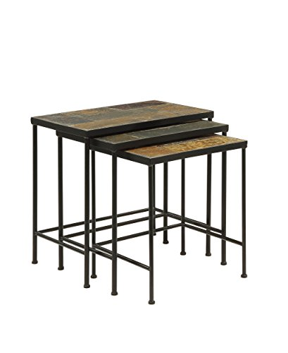 Slate Topped 3 Piece Nesting Tables by Aspen Leaf Specialties