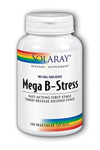 (Solaray Mega B Stress Two Stage Timed Release Supplement, 120 Count )