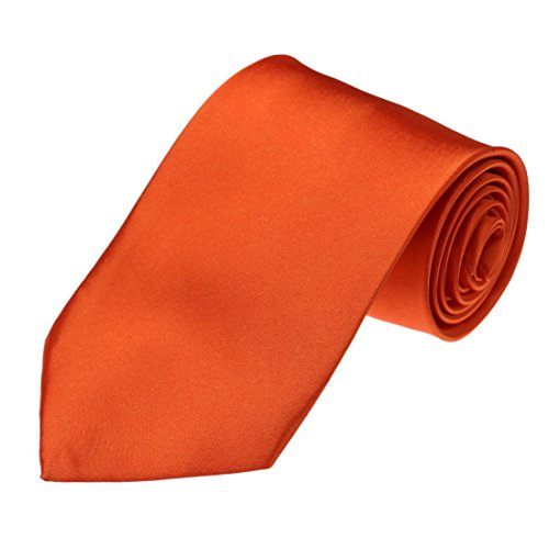 DAA3E01C Orange Solid Woven Microfiber Tie Economics Fabric Neck Tie Work-utility Him By Dan Smith (Solid Tie)