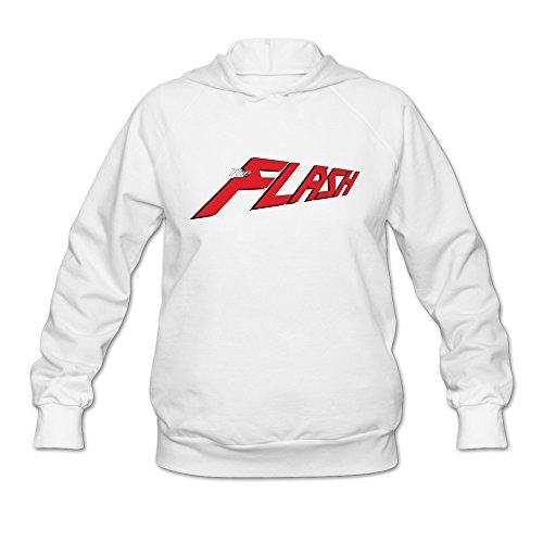 Tavil The Flash Lady 100% Cotton Hoodies Size Large White ()
