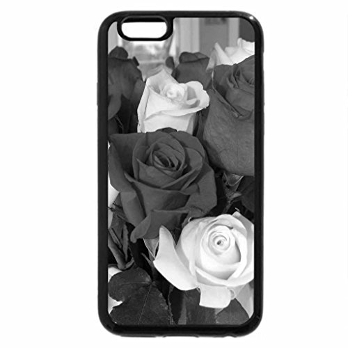 iPhone 6S Plus Case, iPhone 6 Plus Case (Black & White) - Roses for Christmas