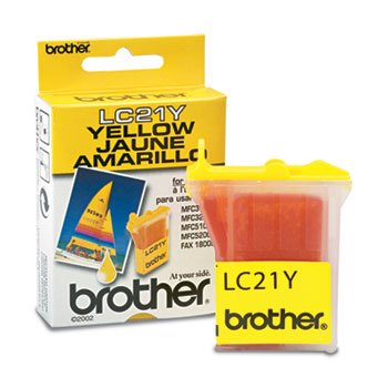 - Brother LC21Y Yellow OEM Genuine Inkjet/Ink Cartridge (450 Yield) - Retail