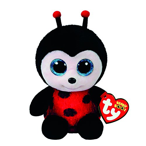 Claire's Girl's Ty Beanie Boo Small Izzy the Ladybug Plush Toy - Claire Ladybug