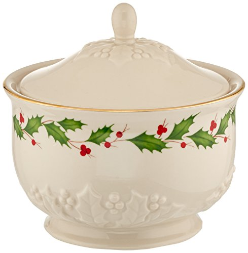 - Lenox Holiday Carved Treat Jar