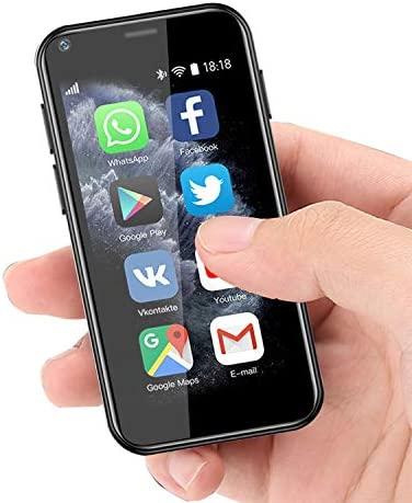 Super Small Mini Smartphone 3G Dual SIM Mobile Phone 1GB RAM 8GB ROM Android 6.0 Unlocked Children Phone Pocket Cellphone (Black) WeeklyReviewer