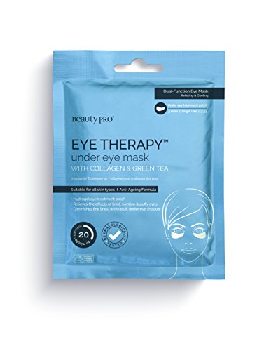 BeautyPro EYE THERAPY under eye mask with collagen & green tea (3 (Eye Patch Therapy)
