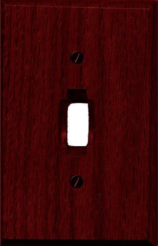 Runwireless Traditional Dark Cherry Wood Wall Plate/Switch Plate - 4-407 (Single Toggle) - Cherry Wall Wood