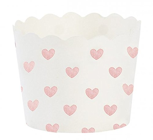 Pink Heart Baking Cups