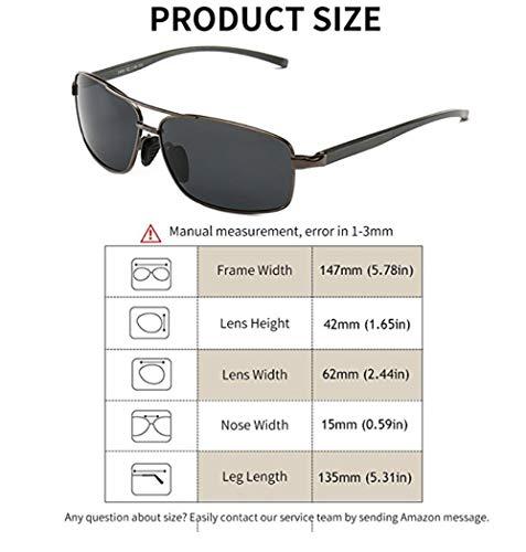 6157412dfff Sport Polarized Sunglasses For Men-wearPro Ultralight Rectangular Sunglasses  Driving Fishing 100% UV Protection