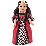 Little Adventures Queen of Hearts Princess Doll Dress with Crown