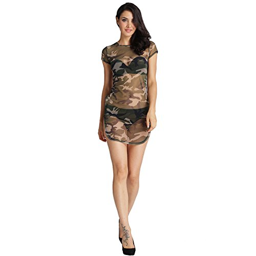 SZIVYSHI Sexy Kurzarm Militär Militärische Camo Camouflage Tarnung ...
