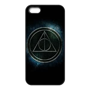 Deathly Hallows iPhone 4 4s Cell Phone Case Black TPU Phone Case SV_098946