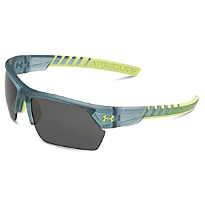 Under Armour Men's Igniter 2.0 8600051-187501 Sunglasses, Satin Crystal Gray, 66 mm