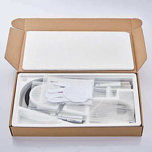 WOOHSE Einhebelmischer Niederdruck Küchenarmatur ausziehbar mit 2 Strahlarten Geschirrbrause Wasserhahn Küche Spültisch-Einhandmischer 360° Schwenkbarer Hoher Auslauf Mischbatterie für Küche Spüle