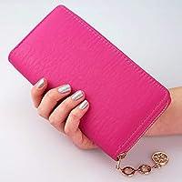 Cartera Mujer con Monedero - Precioso Monedero Mujer con 8 Ranuras para Tarjetas y 3 para Billetes, tamaño Ideal para Llevar el móvil, Color Rosa