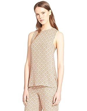 Theory Sharlia Foulard Print Sleeveless Silk Top, Nectar Multi - P/XSmall