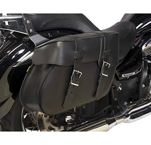 Dowco Willie & Max 08011-03 Ventura Series: Leather Motorcycle Saddlebag Set, Black, Universal Fit, 21.5 Liter Each/43 Liter Total Capacity