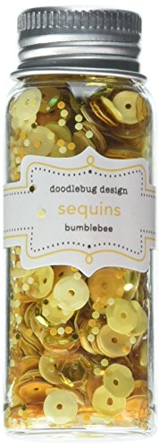DOODLEBUG Kraft in Color Assorted Sequins, Bumblebee
