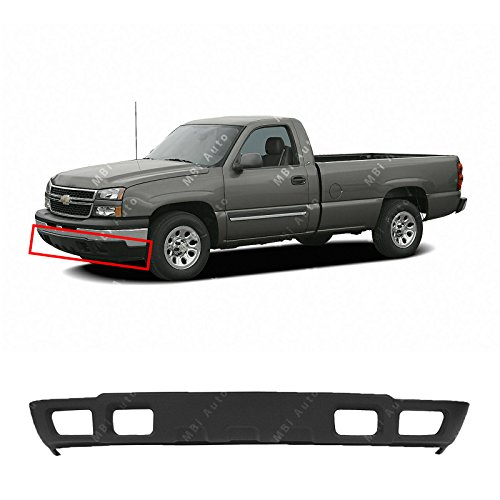 MBI AUTO - Textured, Gray Lower Front Bumper Air Deflector for 2003-2006 Chevrolet Silverado & Avalanche 03-06, GM1092173