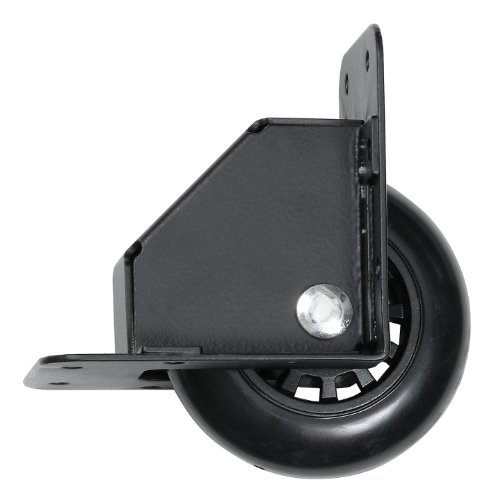 - Reliable Hardware Company RH-9024BK-A Recessed Tilt Caster Housing, Medium Size, 2.75-Inch Diameter Wheel, Black