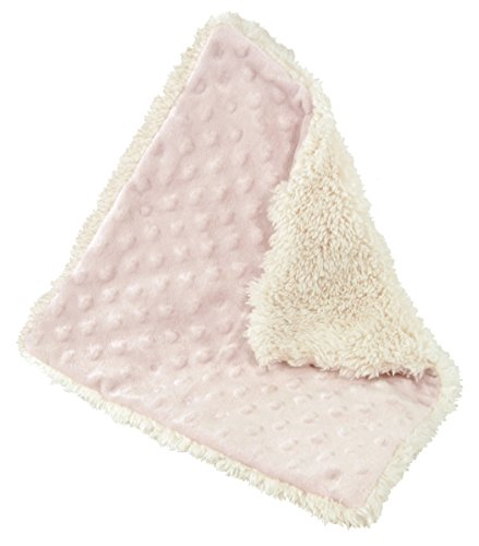 stephan-baby-reversible-bumpy-plush-shaggy-sherpa-security-blanket-pink