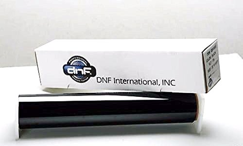 DNF 1 PLY Charcoal 50% 60'' X 100 Feet Window Tint Film with Free DNF Tri-Edge Squeegee and Complimentary Cutting Service by DNF