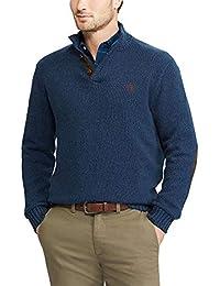 by Ralph Lauren Men's Kent Button Mockneck Sweater