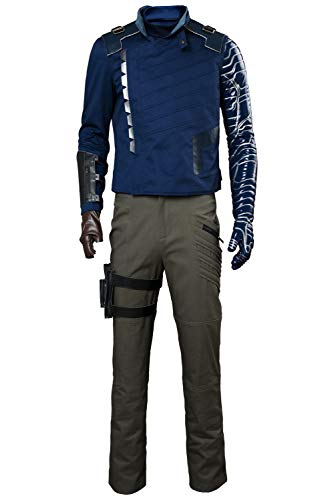 Mutrade Mens Captain Soldier Cosplay Costume Halloween Adult Winter Super Outfits,Medium ()