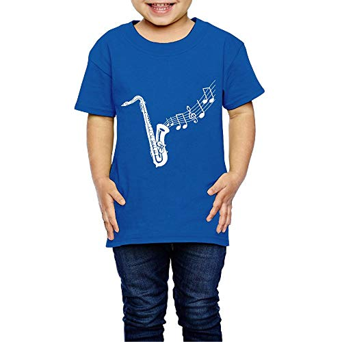(XYMYFC-E Saxophone Clipart 2-6 Years Old Child Short-Sleeved T Shirts)