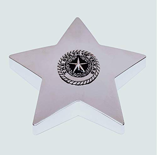 Paperweight Star Silver (Silver Star State of Texas Seal Paper-weight)