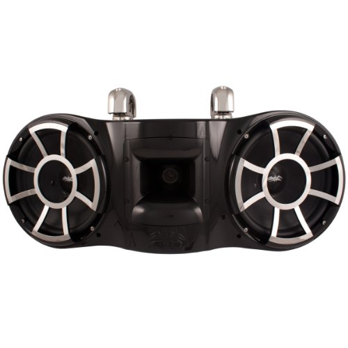 Wet Sounds Revolution Series Dual 10 inch EFG HLCD Tower Speaker - Black w/ Swivel (Wakeboard Tower Manufacturers)