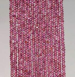 3X2MM Brazilian Purple Garnet Gemstone GRD AA Faceted RONDELLE Loose Beads 13