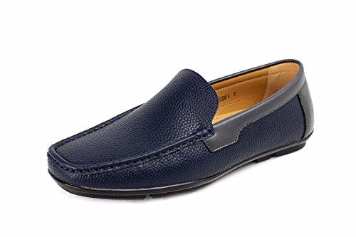 CABALLEROS Barco Deslizarse On Deck Zapatos de diario Azul Marino