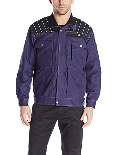 JOBMAN Workwear Men's Craftsman Jacket, Navy/Black, XX-Large